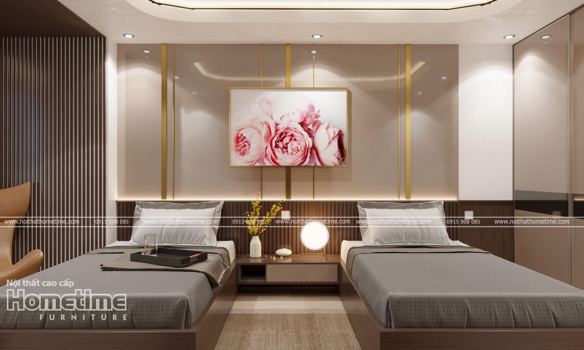 Thiết kế nội thất phòng ngủ nhà anh Chính
