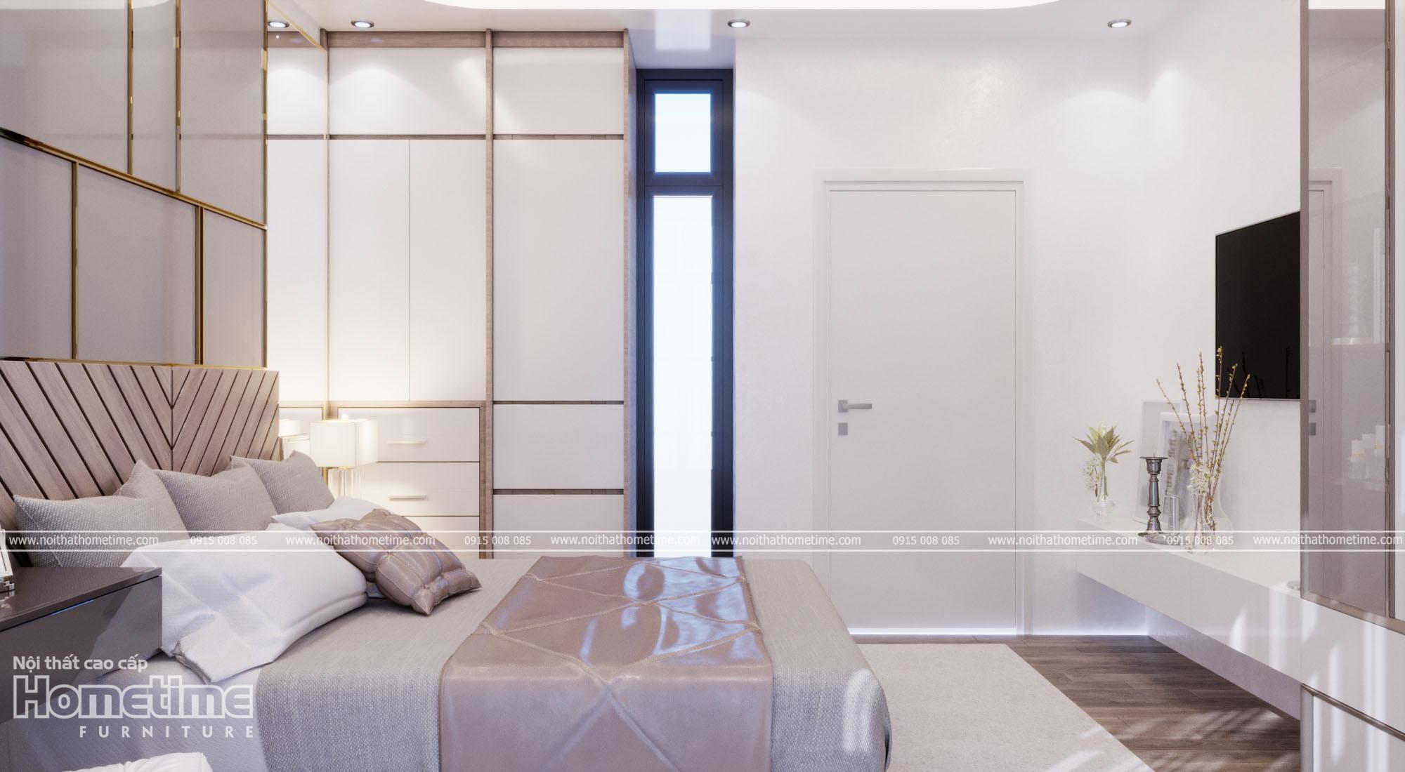 Sự kết hợp hài hòa màu sắc trong căn phòng ngủ