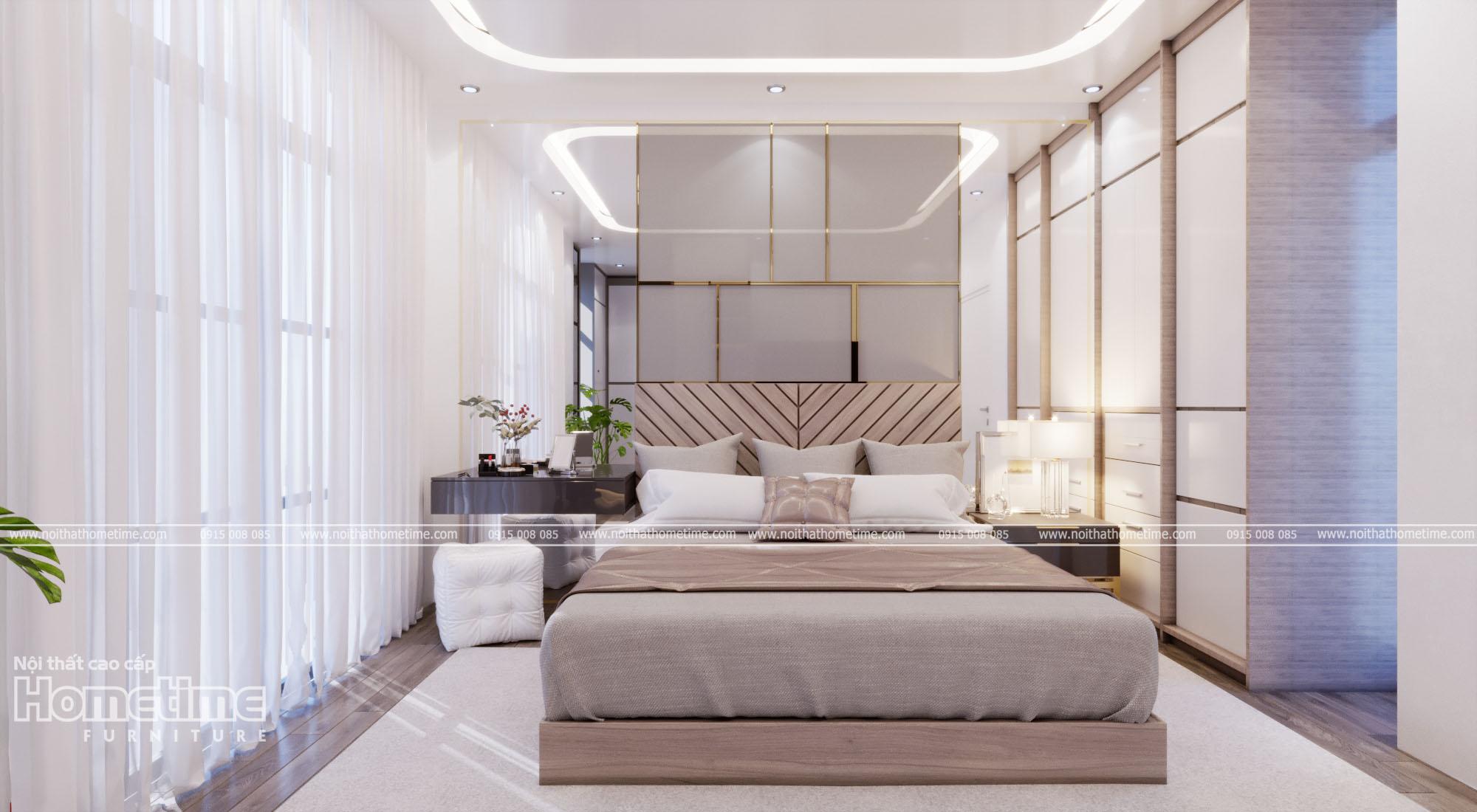 Chiếc giường ngủ nhã nhặn, thanh lịch