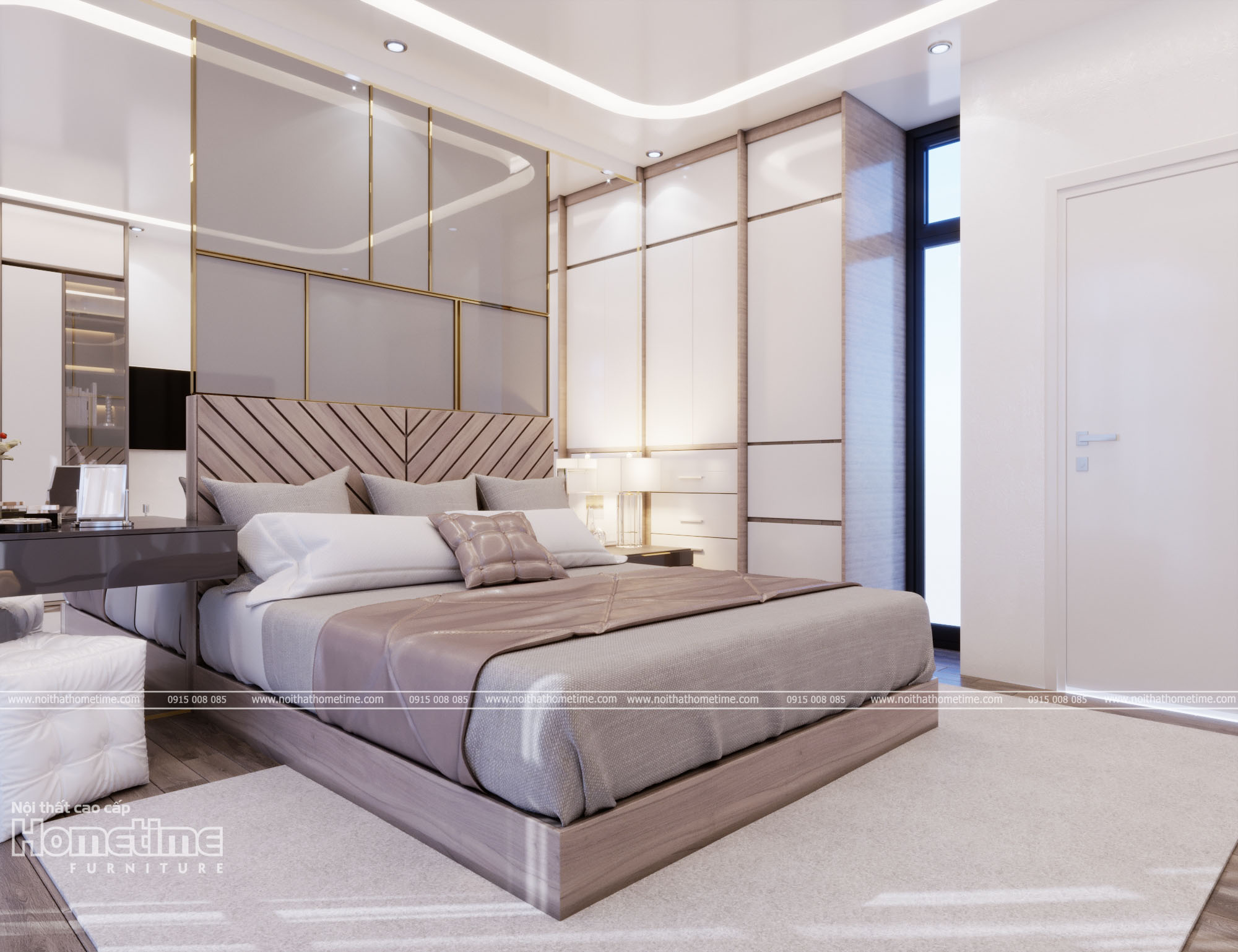 Phong cách thiết kế nội thất ngủ hiện đại, sang trọng