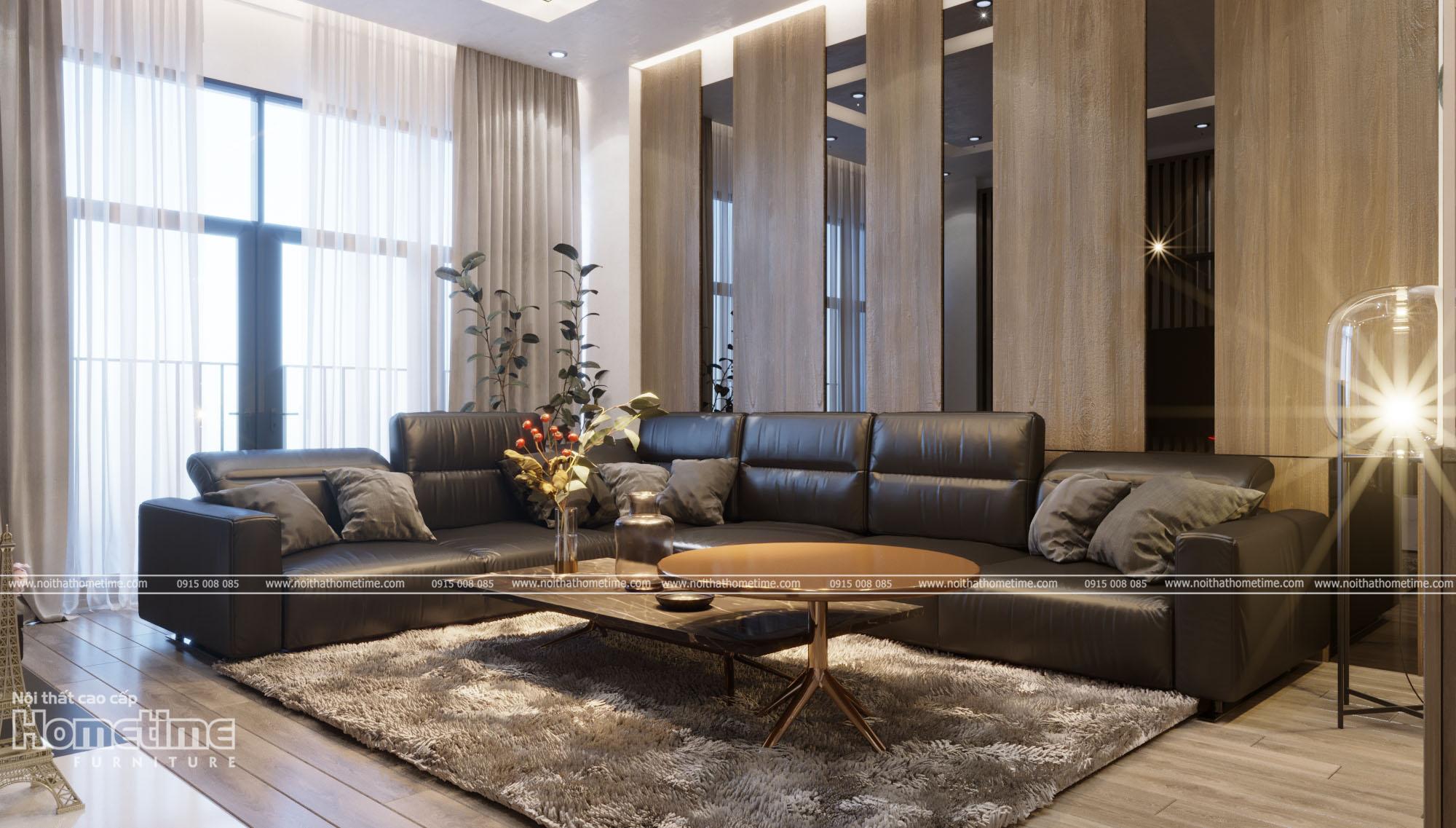 Bộ sofa da cao cấp nhà anh Dương