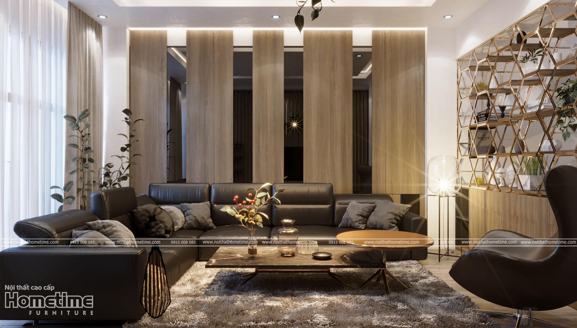 thiết kế nội thất phòng khách nhà anh Dương