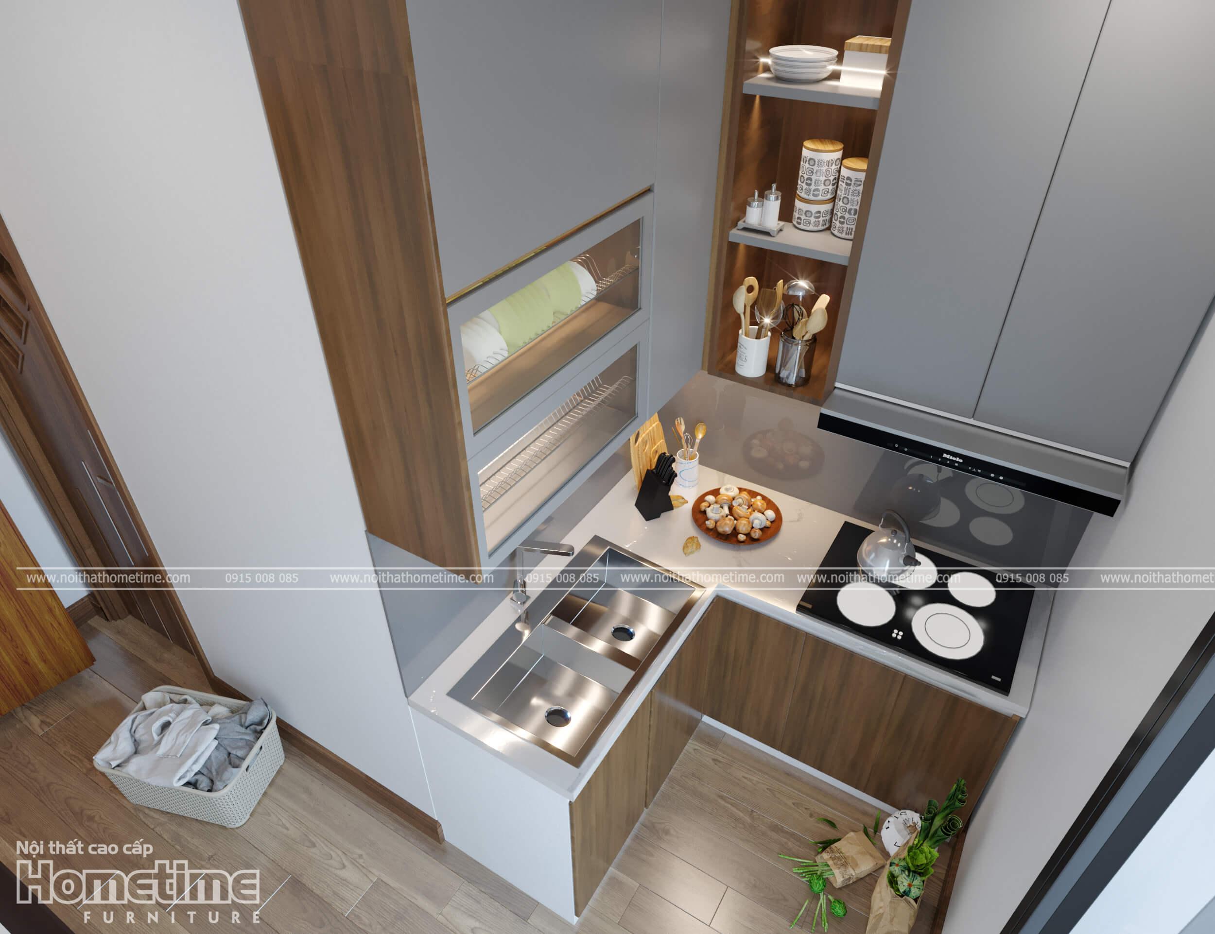 Căn phòng bếp đẹp, nhỏ nhắn của nhà anh Minh
