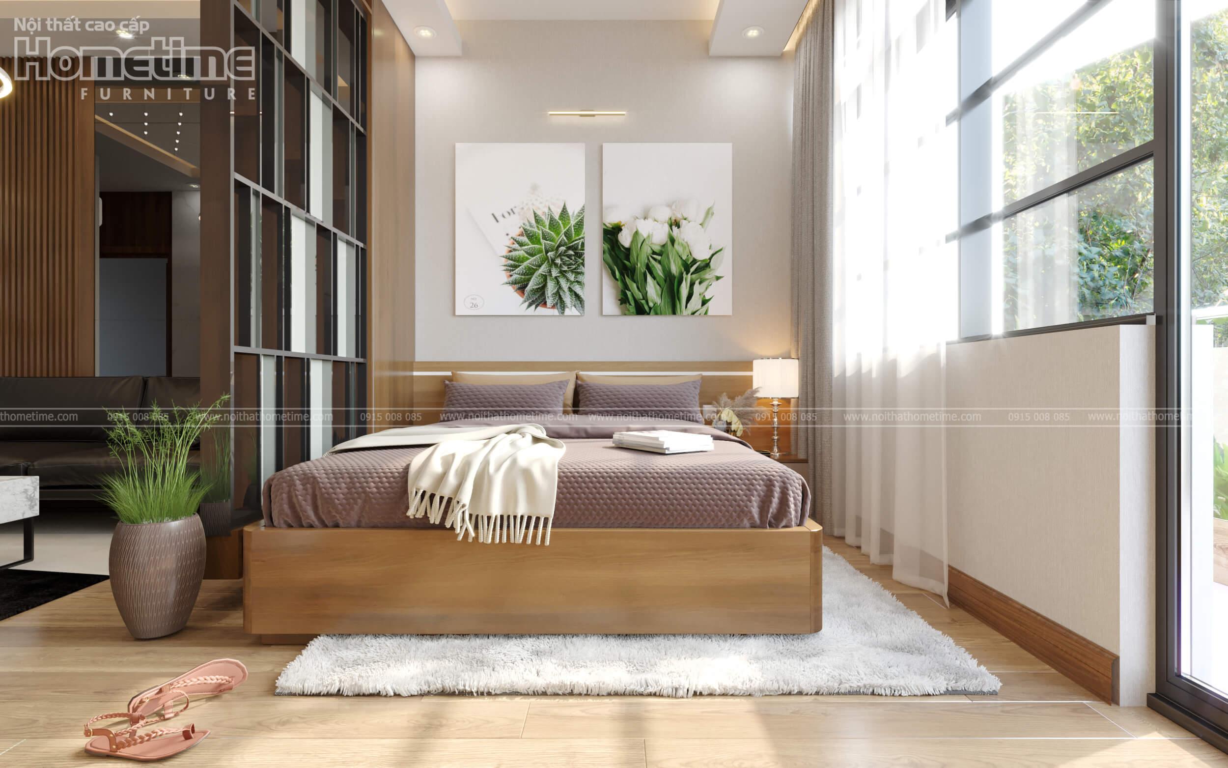 Thiết kế nội thất phòng ngủ nhà anh Minh Water Front City Hải Phòng
