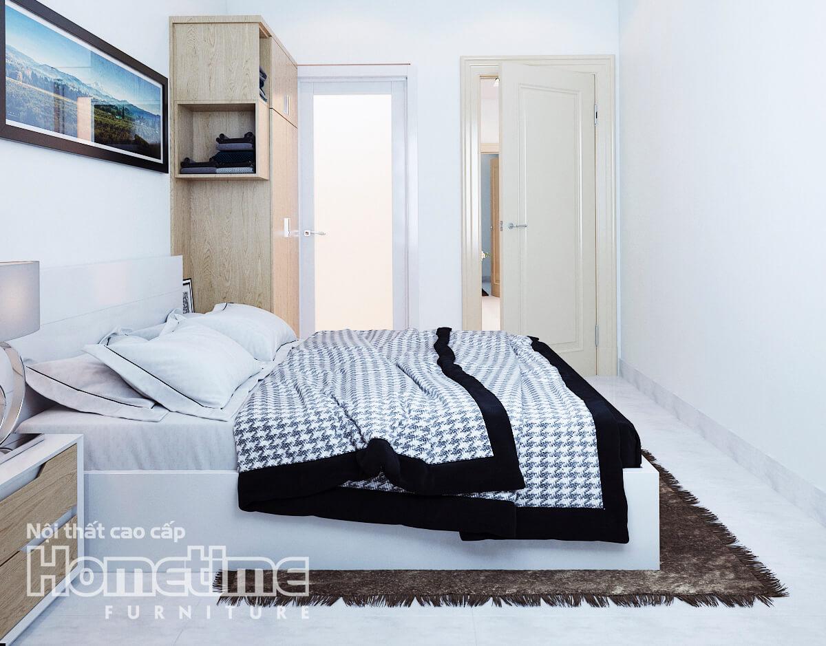 Giường ngủ nhà anh Long