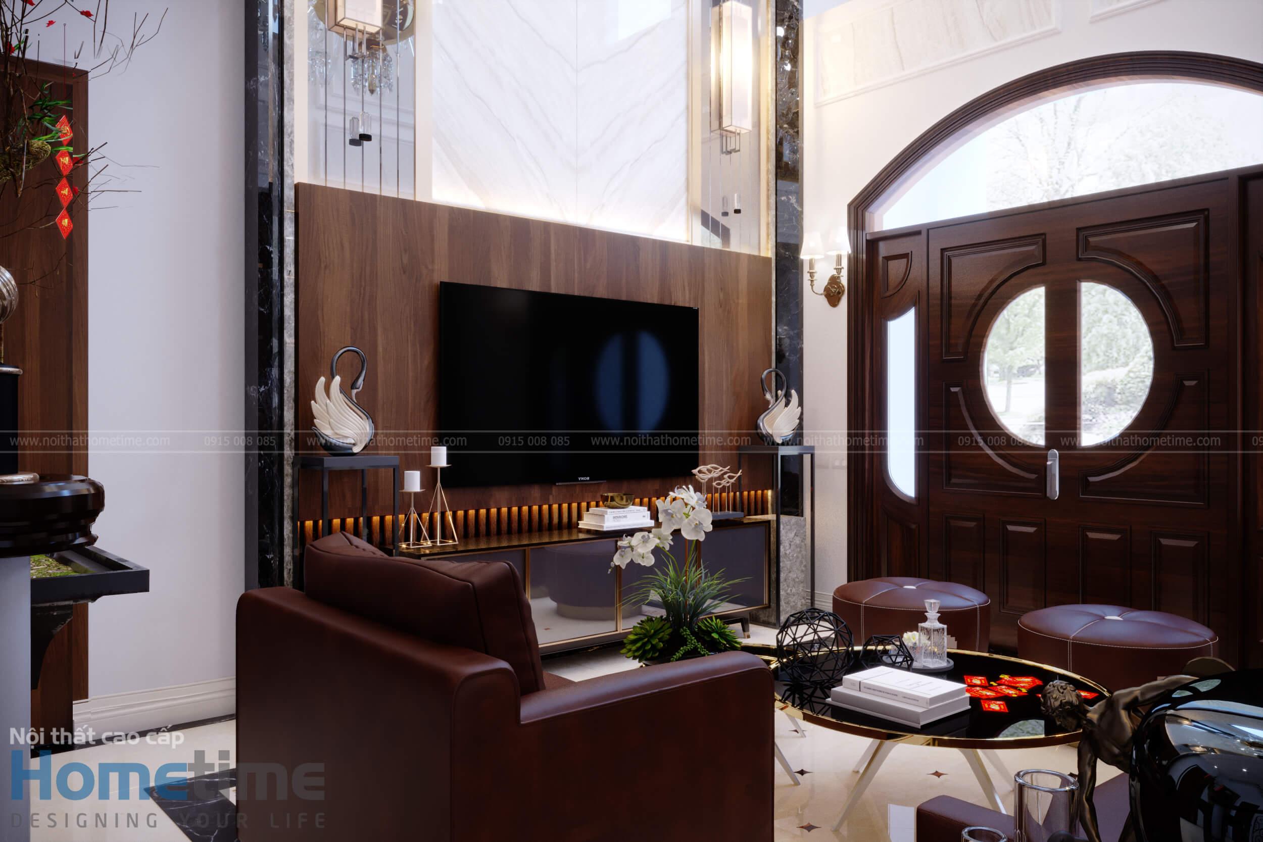 Bộ ghế sofa phòng khách làm bằng da bò thật