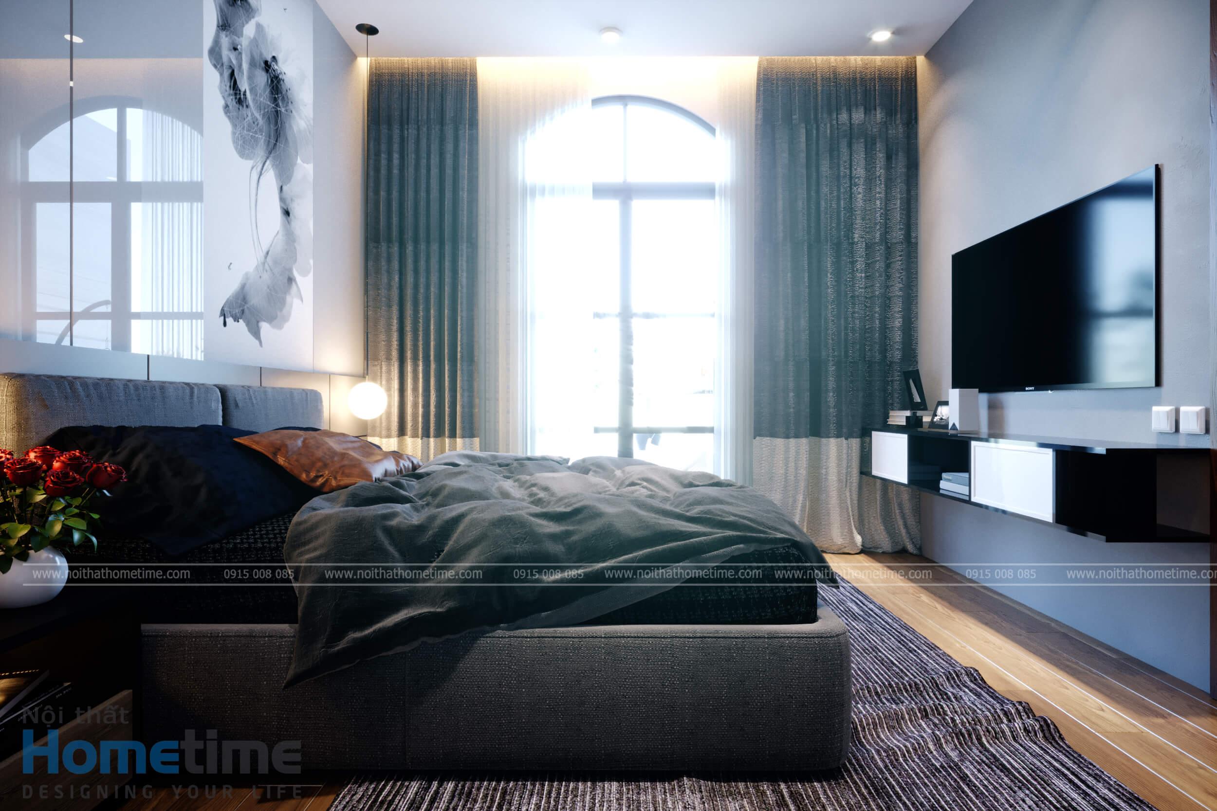 Hình ảnh nội thất phòng ngủ master nhà chú Khanh