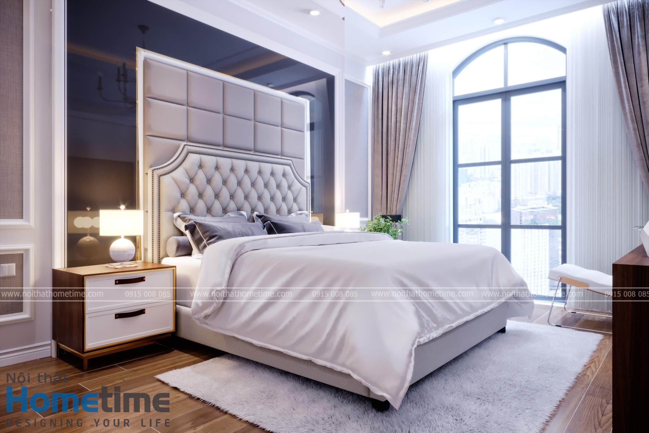 Hình ảnh 3D phòng ngủ vợ chồng con trai chú Khanh