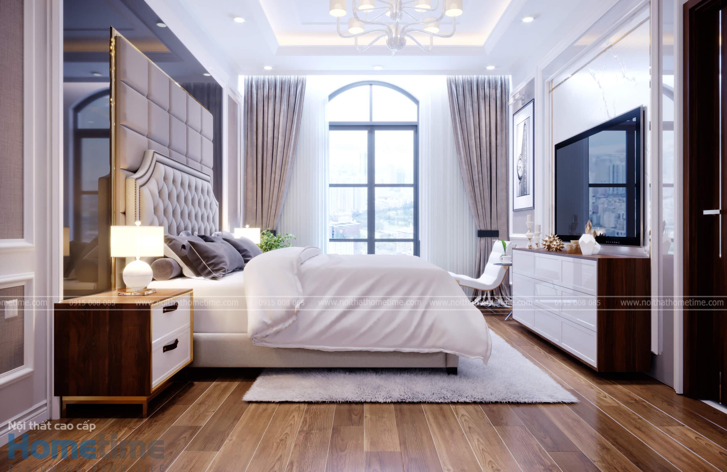 Không gian phòng ngủ có thể nhìn ra bên ngoài rất thoáng đãng