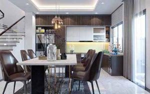 thiết kế nội thất phòng ăn nhà anh Thanh