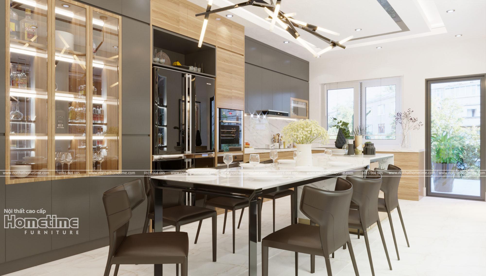thiết kế nội thất phòng ăn nhà anh Dương
