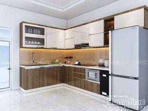 Tủ bếp nhựa cao cấp nhà anh Trung Thiên Lôi