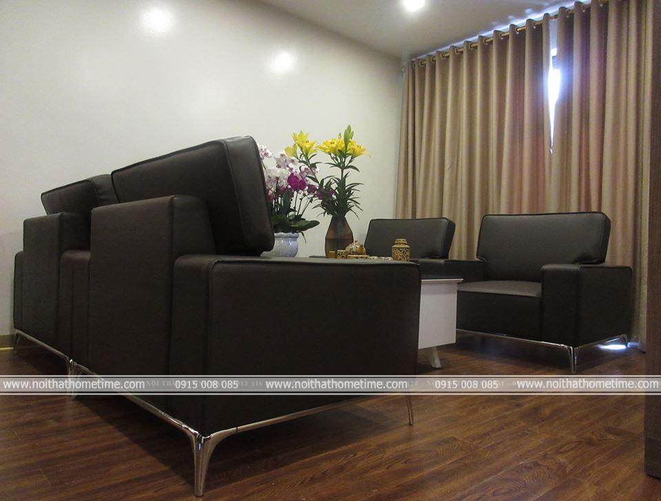Không gian thi công nội thất phòng khách chung cư Đằng Hải