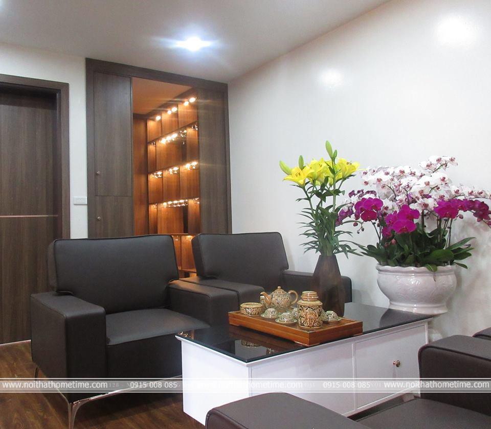 Hình ảnh phòng khách căn hộ chung cư Đằng Hải