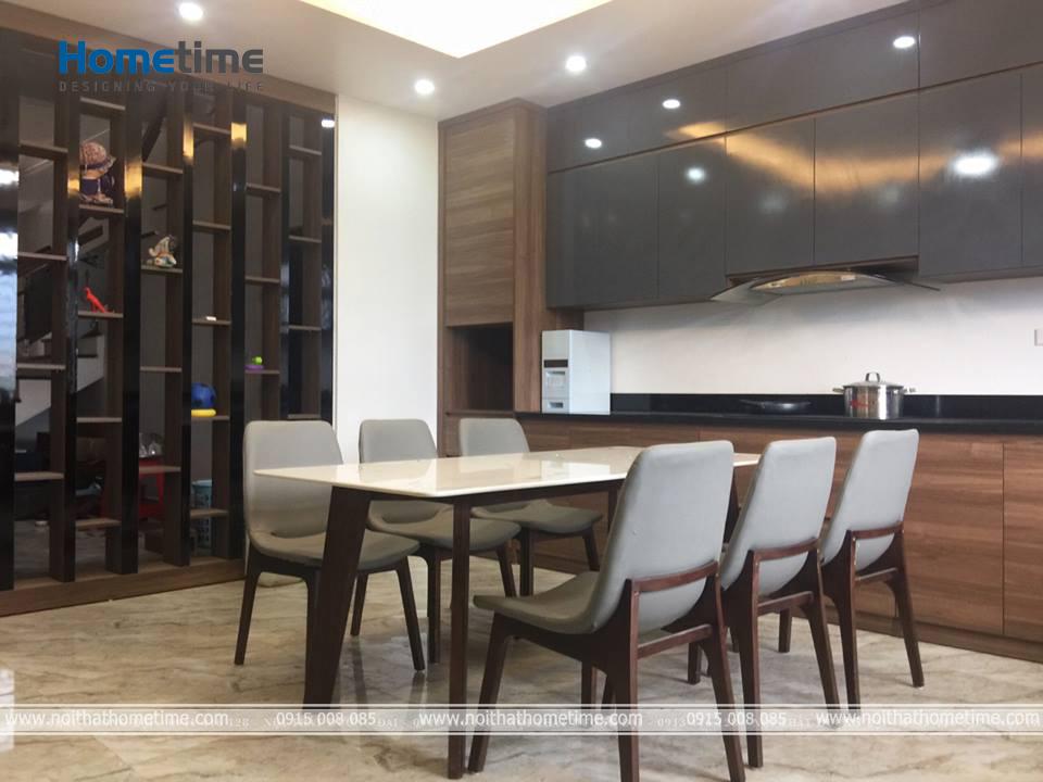 Hình ảnh bàn ăn tại căn hộ cao cấp ở Văn Cao