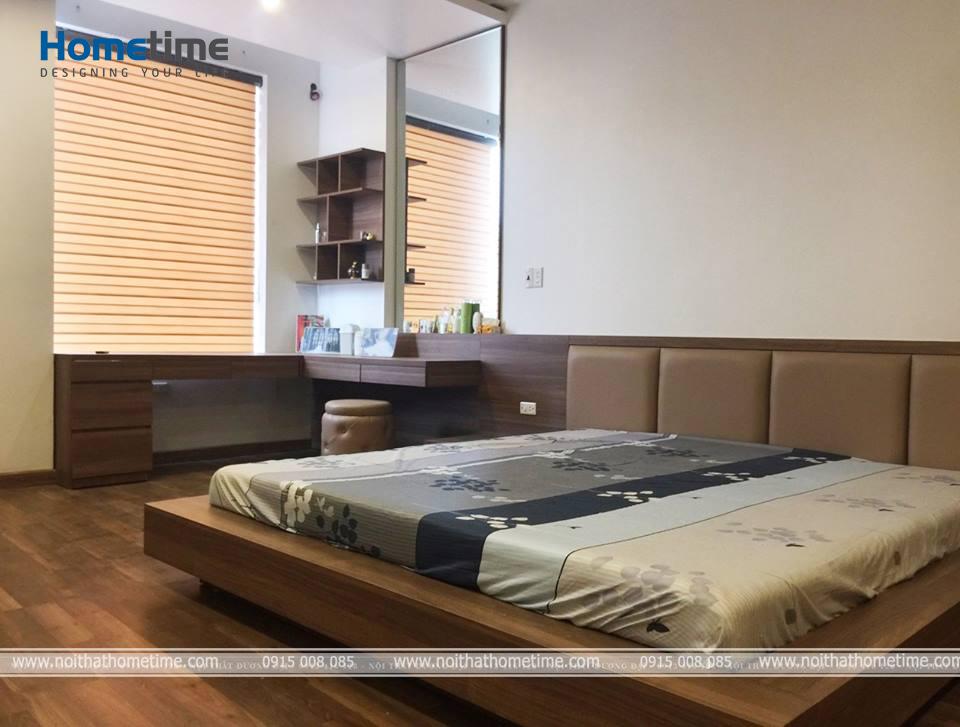 Hình ảnh phòng ngủ bố mẹ tại căn hộ ở Văn Cao