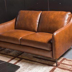 Sofa da thật E130 văng 2 cao cấp màu nâu