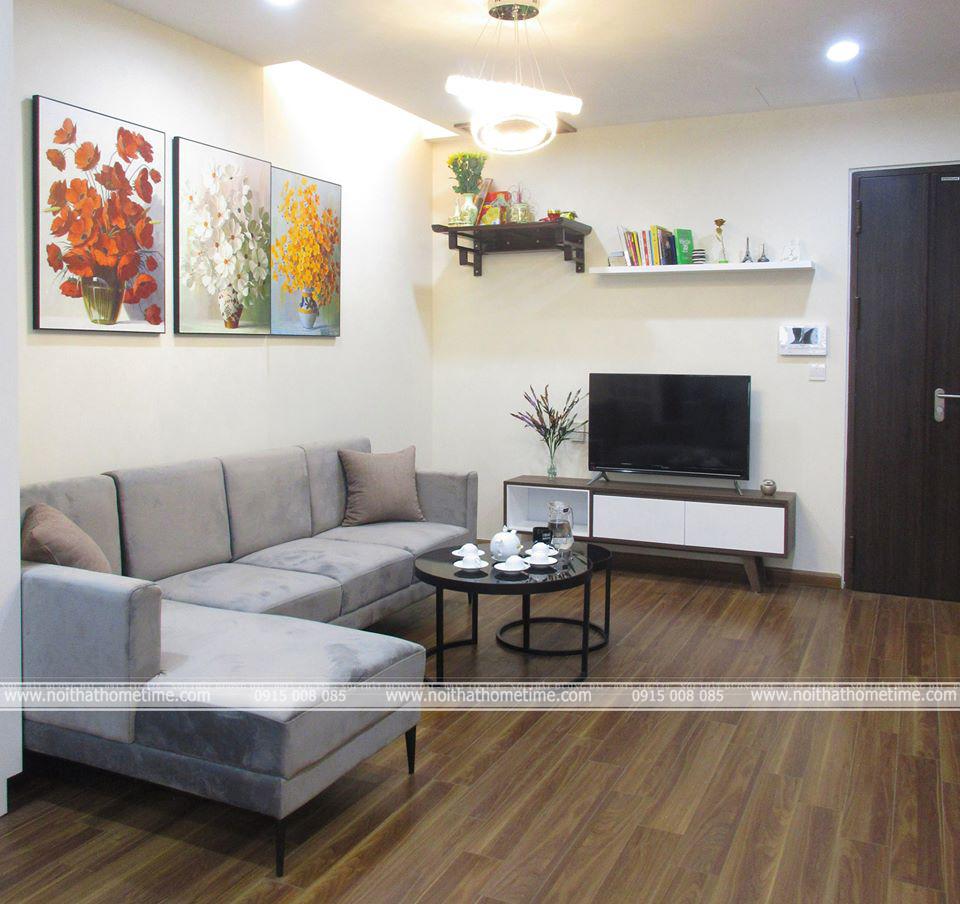 Nội thất phòng khách tại chung cư Hoàng Huy cao cấp