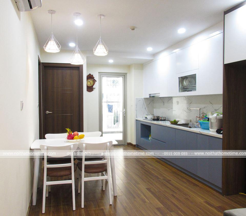 Căn bếp và phòng ăn chung cư cao cấp