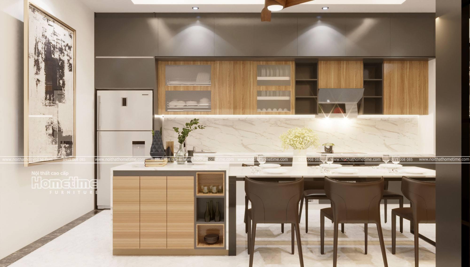 Thiết kế và thi công tủ bếp hiện đại tại Thái Bình