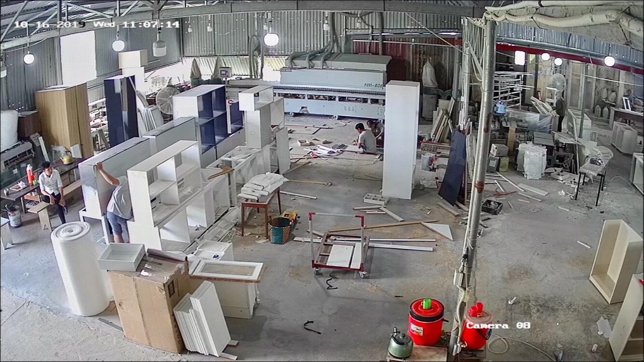 QUá trình sản xuất Tủ Bếp tại xưởng nội thất Hometime