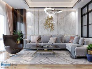 Thiết kế nội thất phòng khách hiện đại nhà anh Thanh