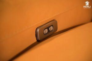Nút điều chỉnh độ ngả của Sofa da thật EE87 văng 2 DC
