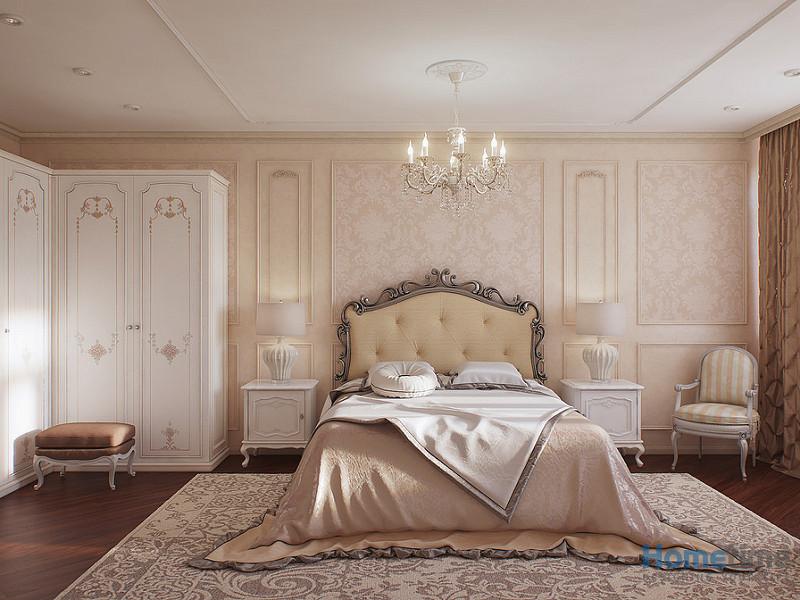Nội thất phòng ngủ khách sạn phong cách tân cổ điển