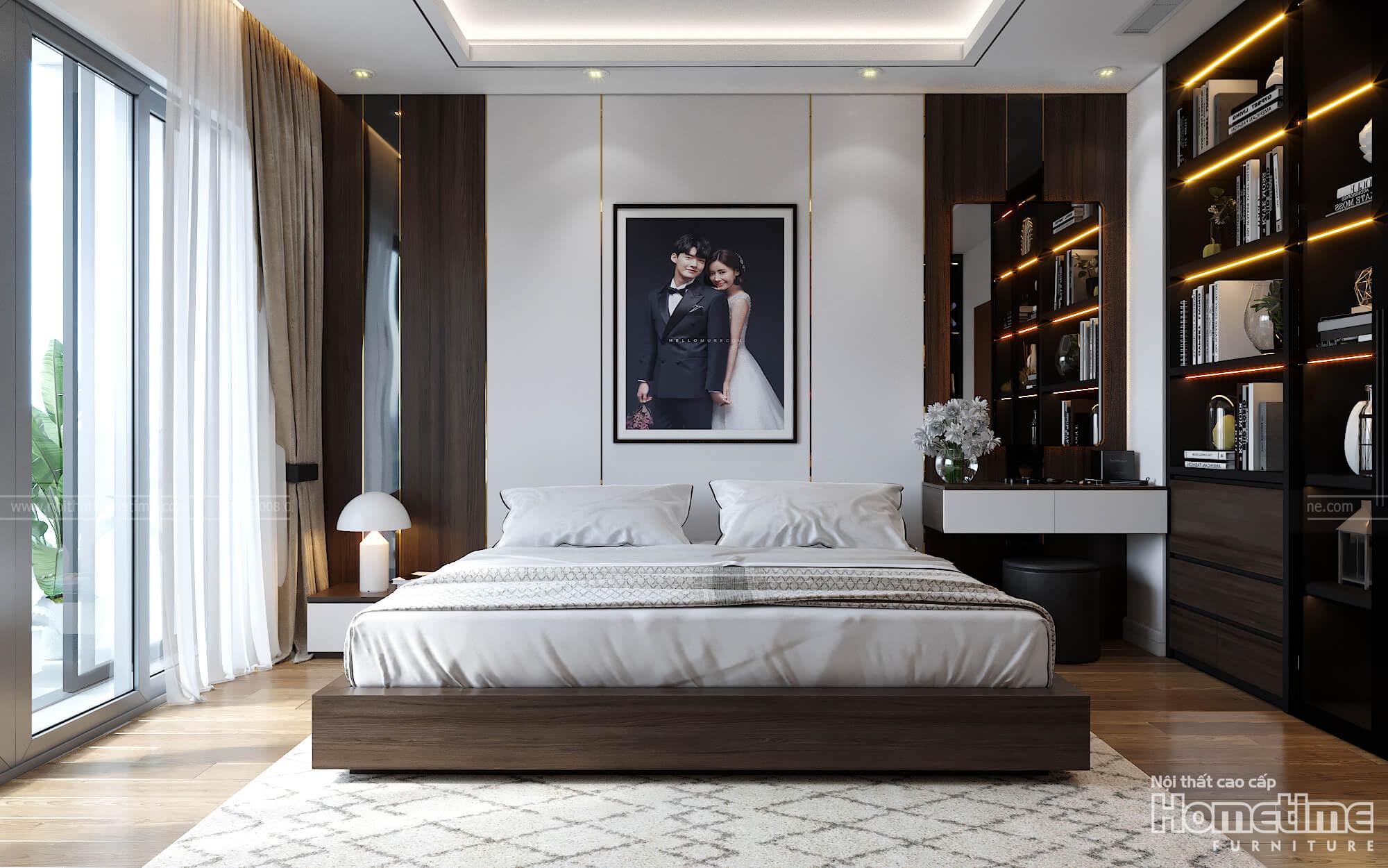 Phong cách thiết kế nội thất phòng ngủ sang trọng hiện đại