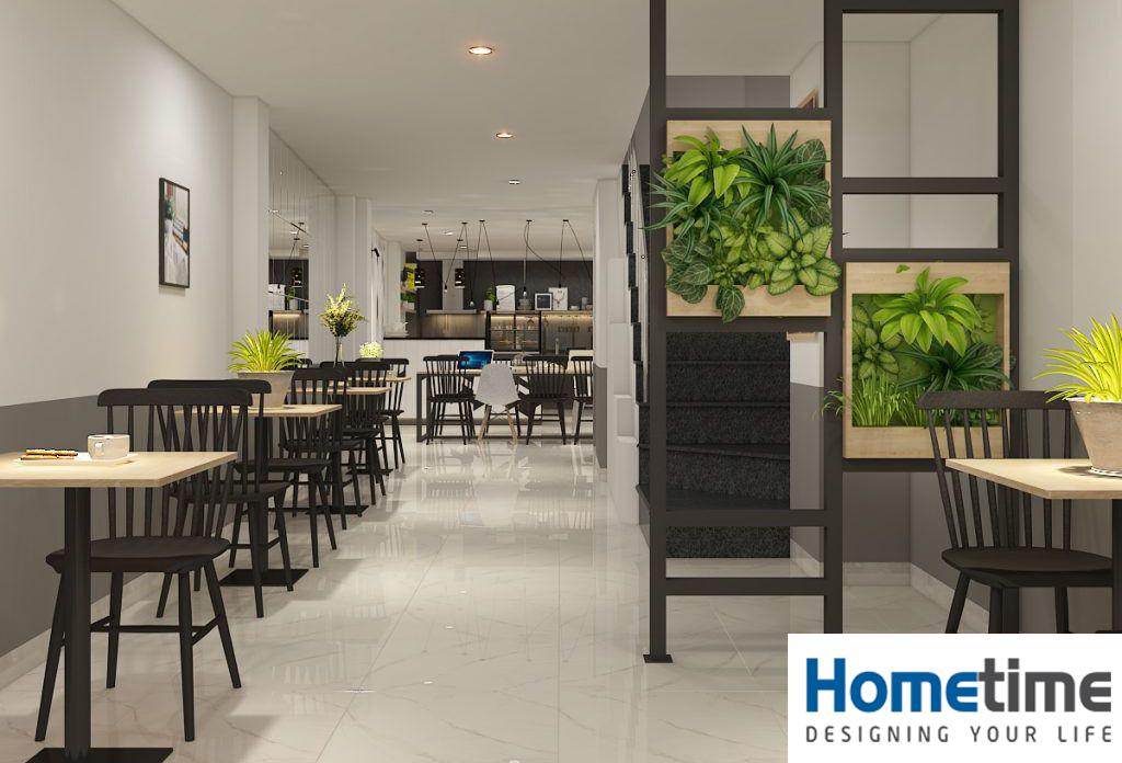Phối cảnh thiết kế quán cafe hiện đại ở Văn Cao