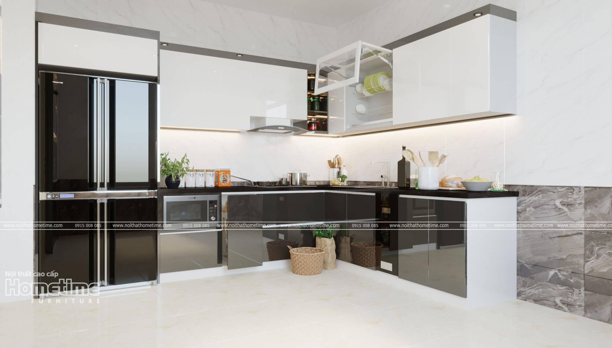 Thiết kế thi công tủ bếp Thái Bình