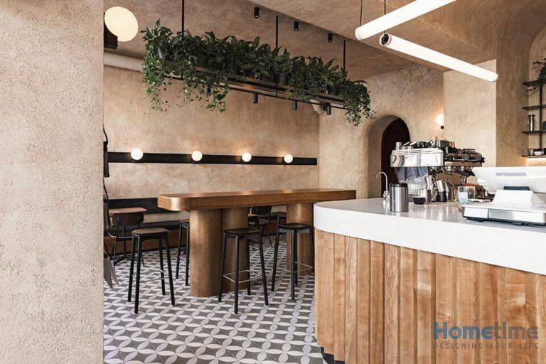 Phong cách thiết kế quán cafe kiểu tối giản