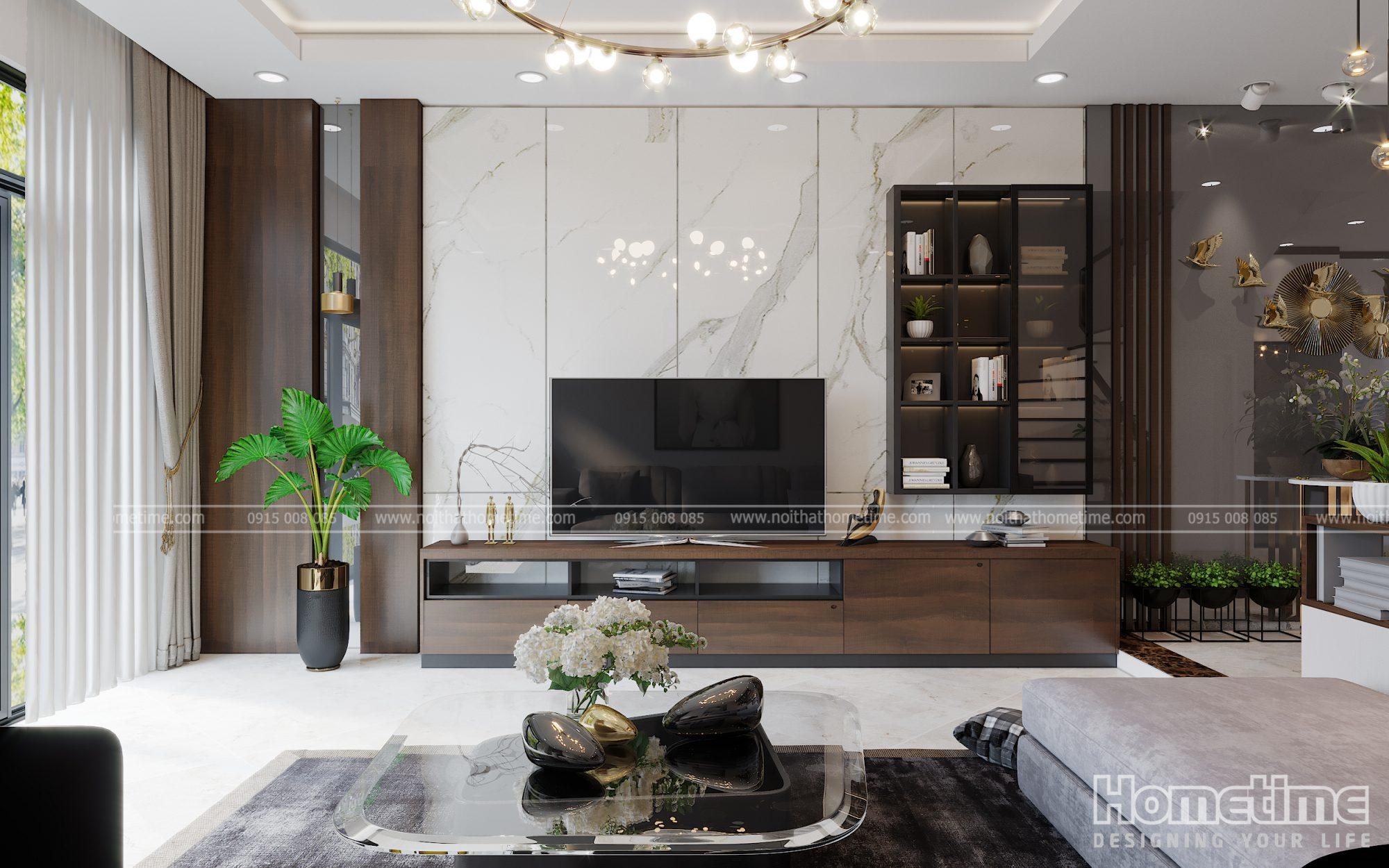 Thiết kế nội thất phòng khách đẹp tại Hải Phòng
