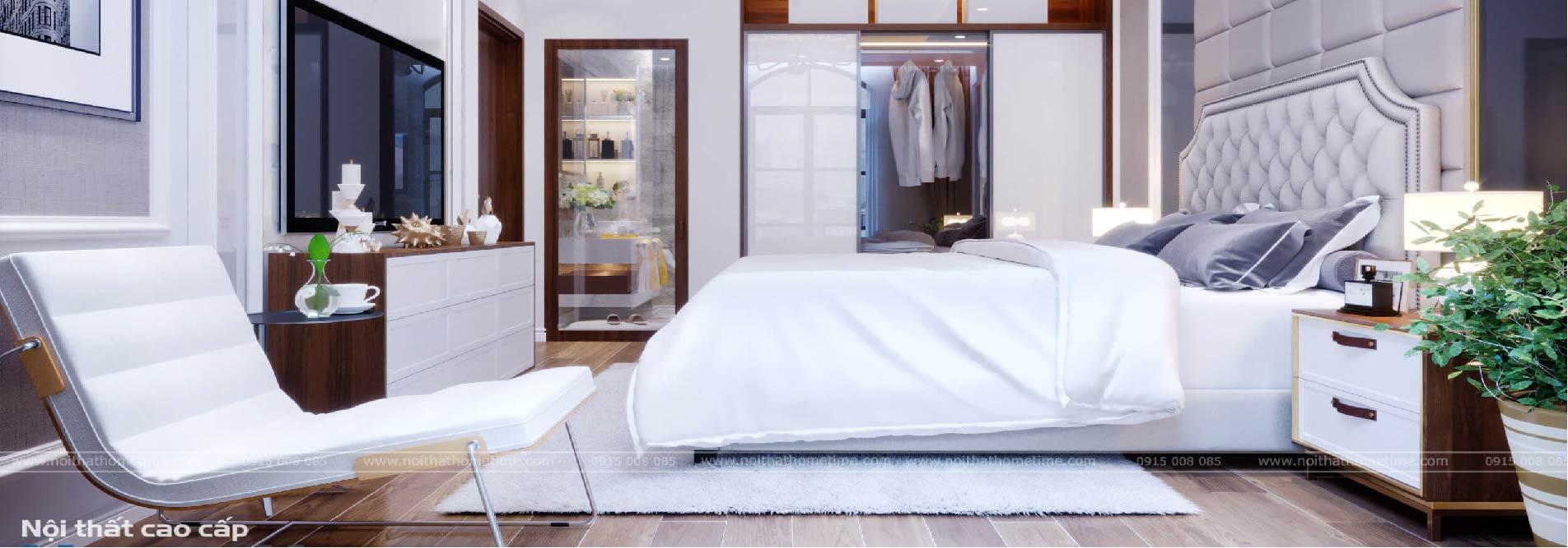 thiết kế nội thất phòng ngủ master nhà chú khanh