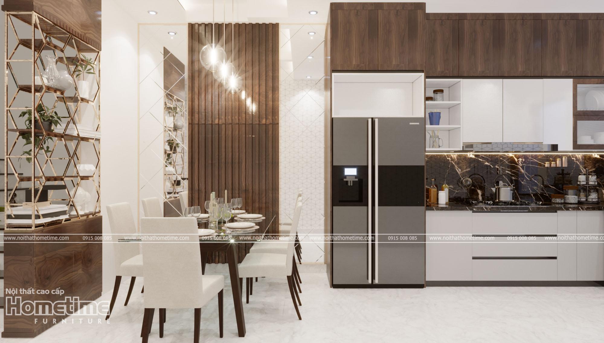 Thiết kế nội thất phòng bếp với nội thất kịch trần