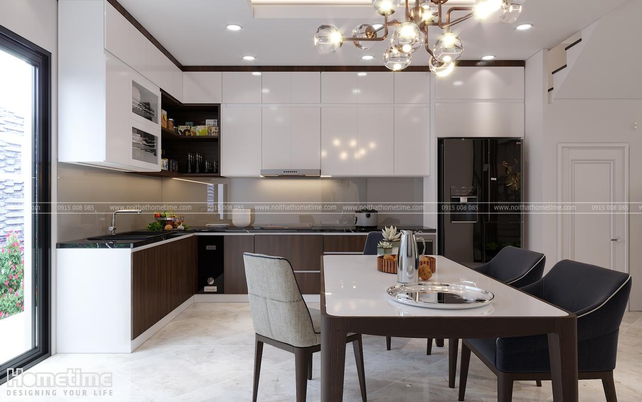 Thiết kế tủ bếp mang phong cách sang trọng, quý phái