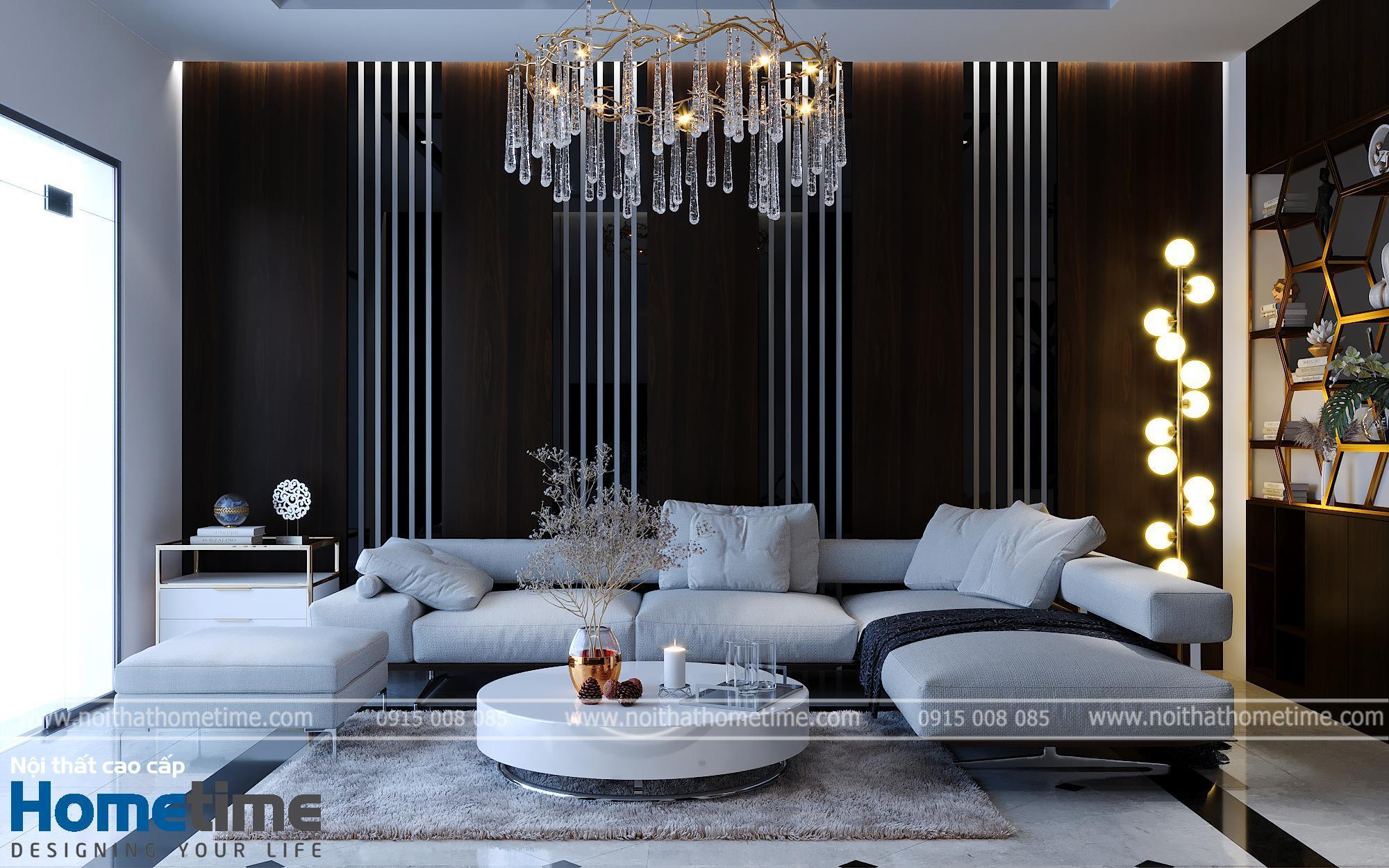 Bộ sofa nỉ màu trắng cao cấp