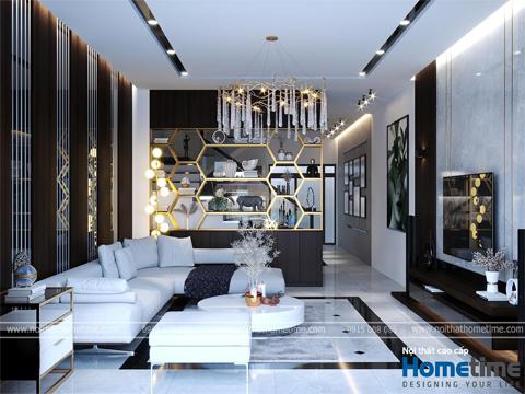 Thiết kế nội thất hiện đại nhà chị Nhung