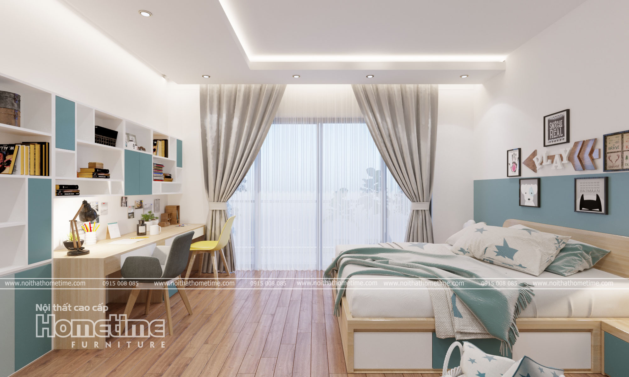 Thiết kế nội thất phòng ngủ bé gái nhà chị Hồng
