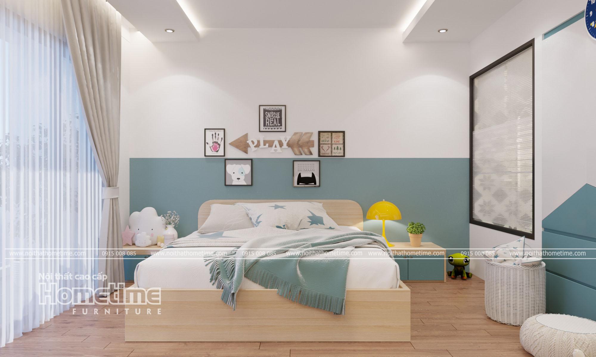 Giường ngủ hiện đại mang đến những giấc ngủ sâu cho trẻ