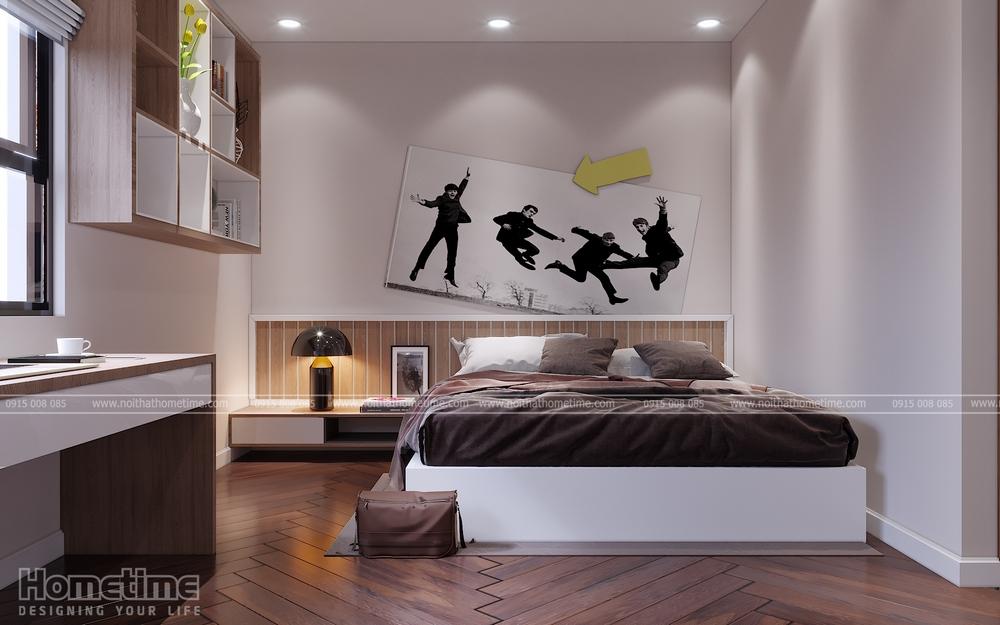 Phối cảnh nội thất sang trọng và hiện đại cho phòng ngủ
