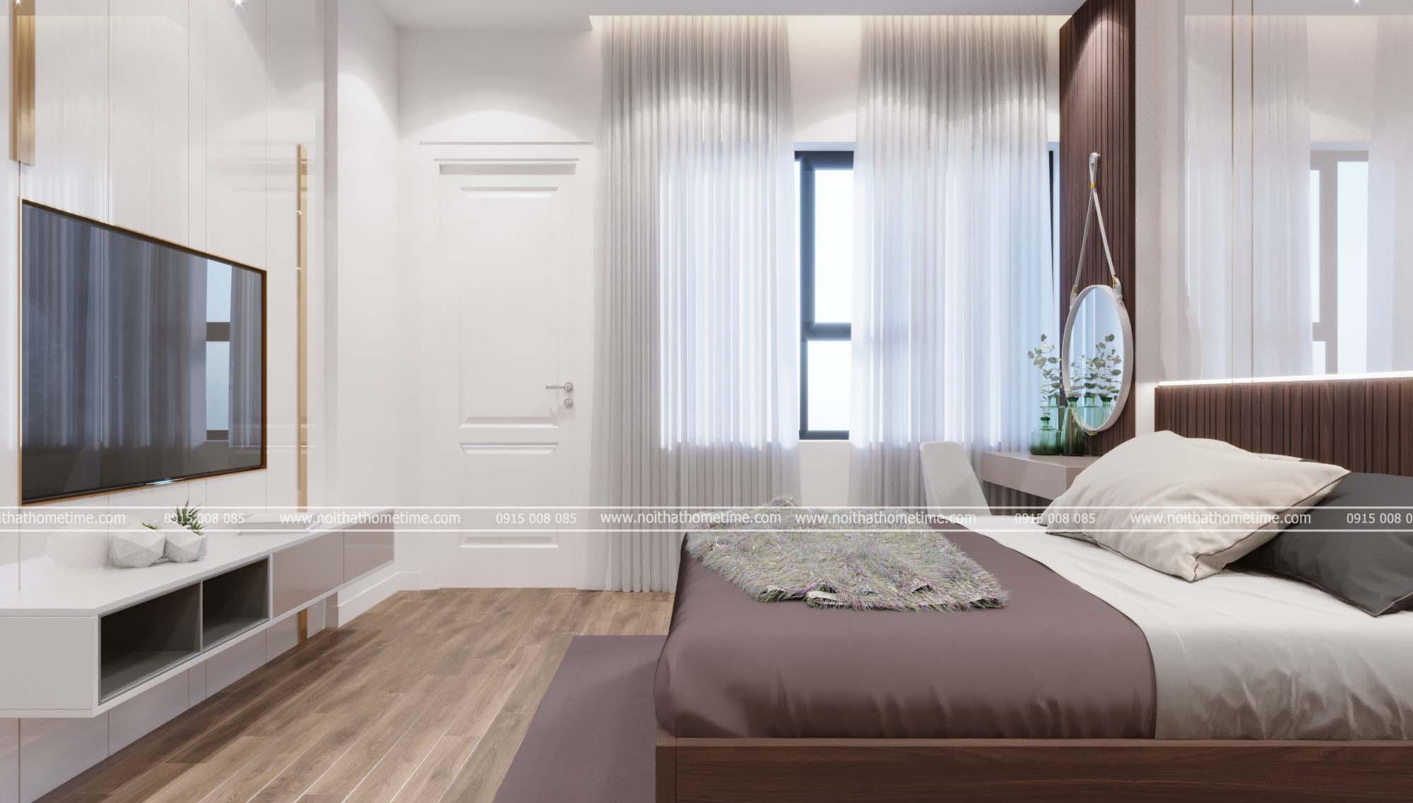 Hình ảnh phòng ngủ master mang phong cách thoáng đãng rộng rãi