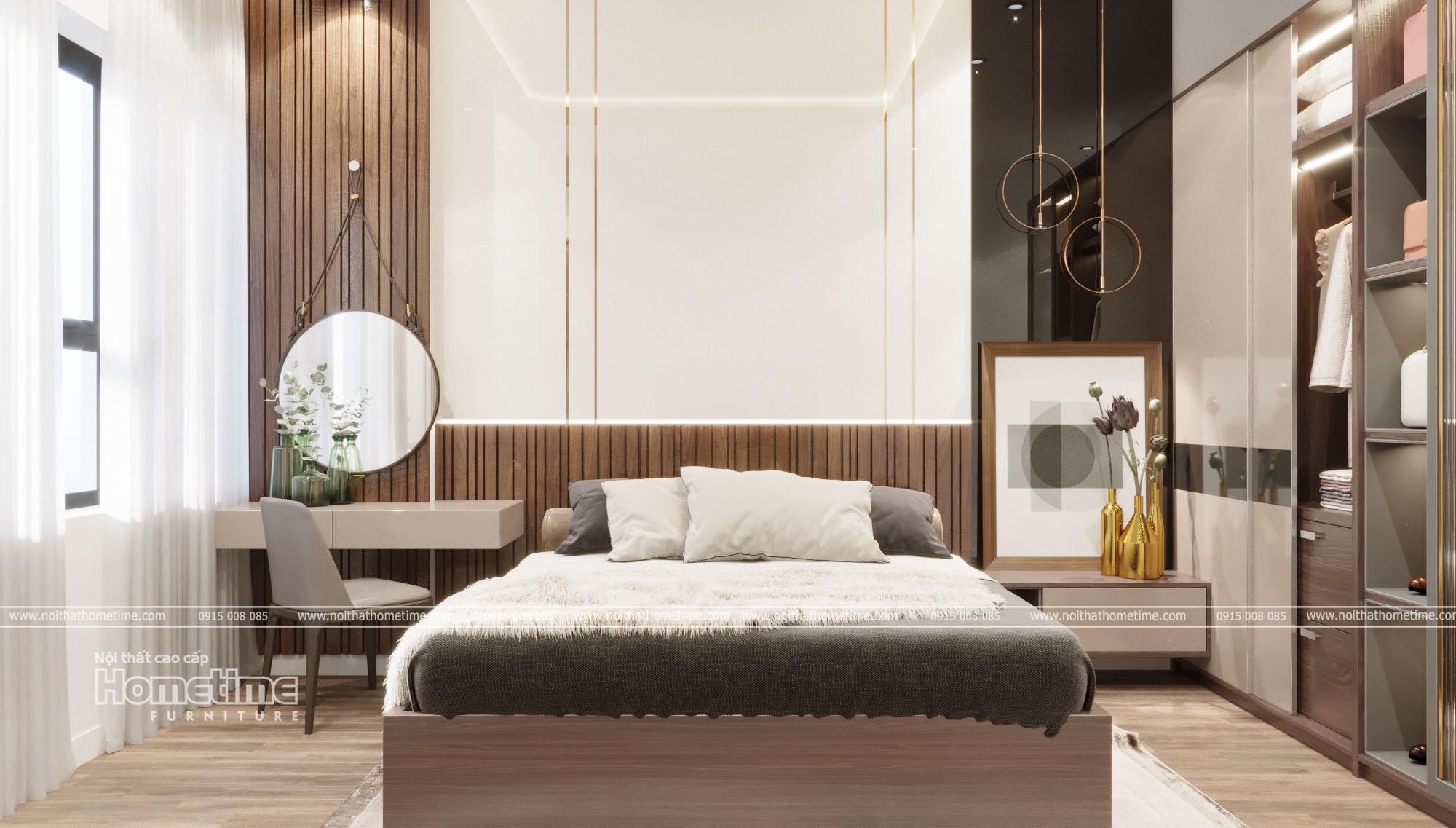 thiết kế nội thất phòng ngủ master nhà anh Hùng
