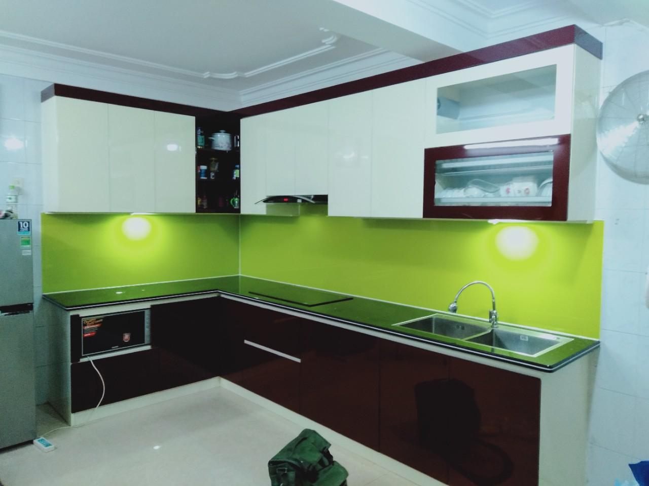 Tủ bếp nhựa PVC Picomat cao cấp nhà chú Pho