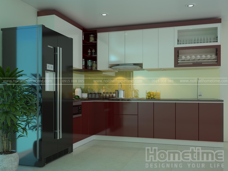 Thiết kế nội thất phòng bếp nhà chú Pho