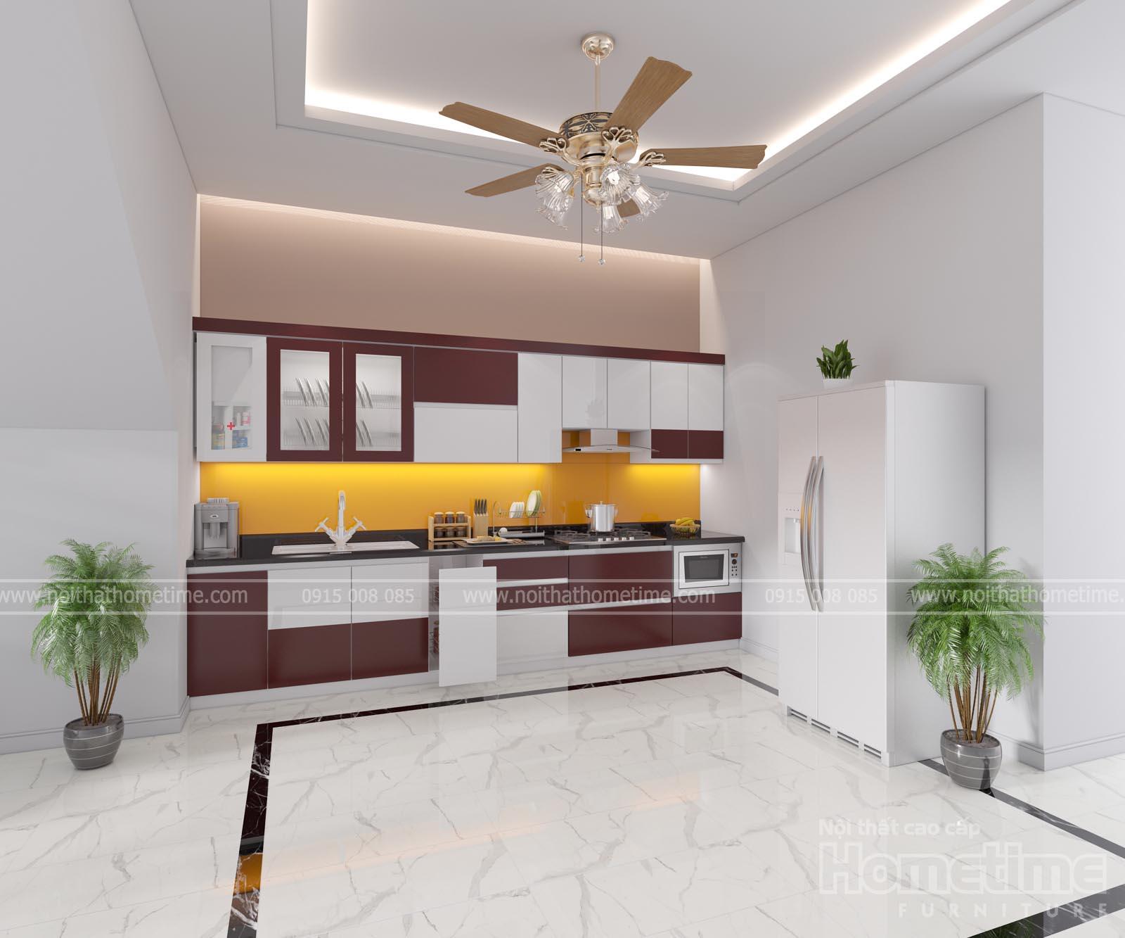 Thiết kế tủ bếp hiện đại tiện nghi cho gia chủ