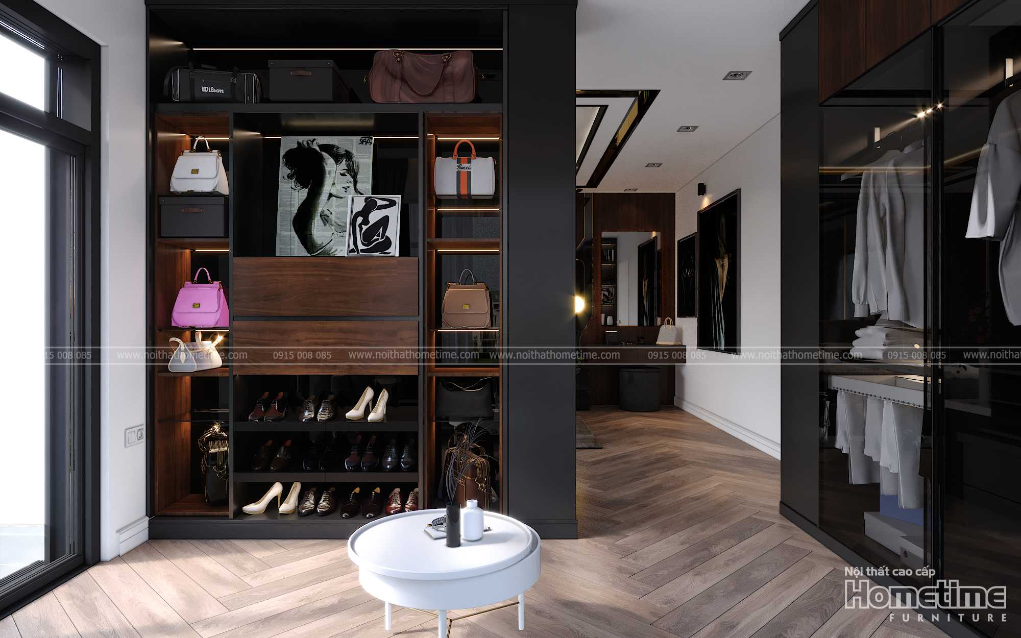 Những đồ nội thất được trang trí trong phòng