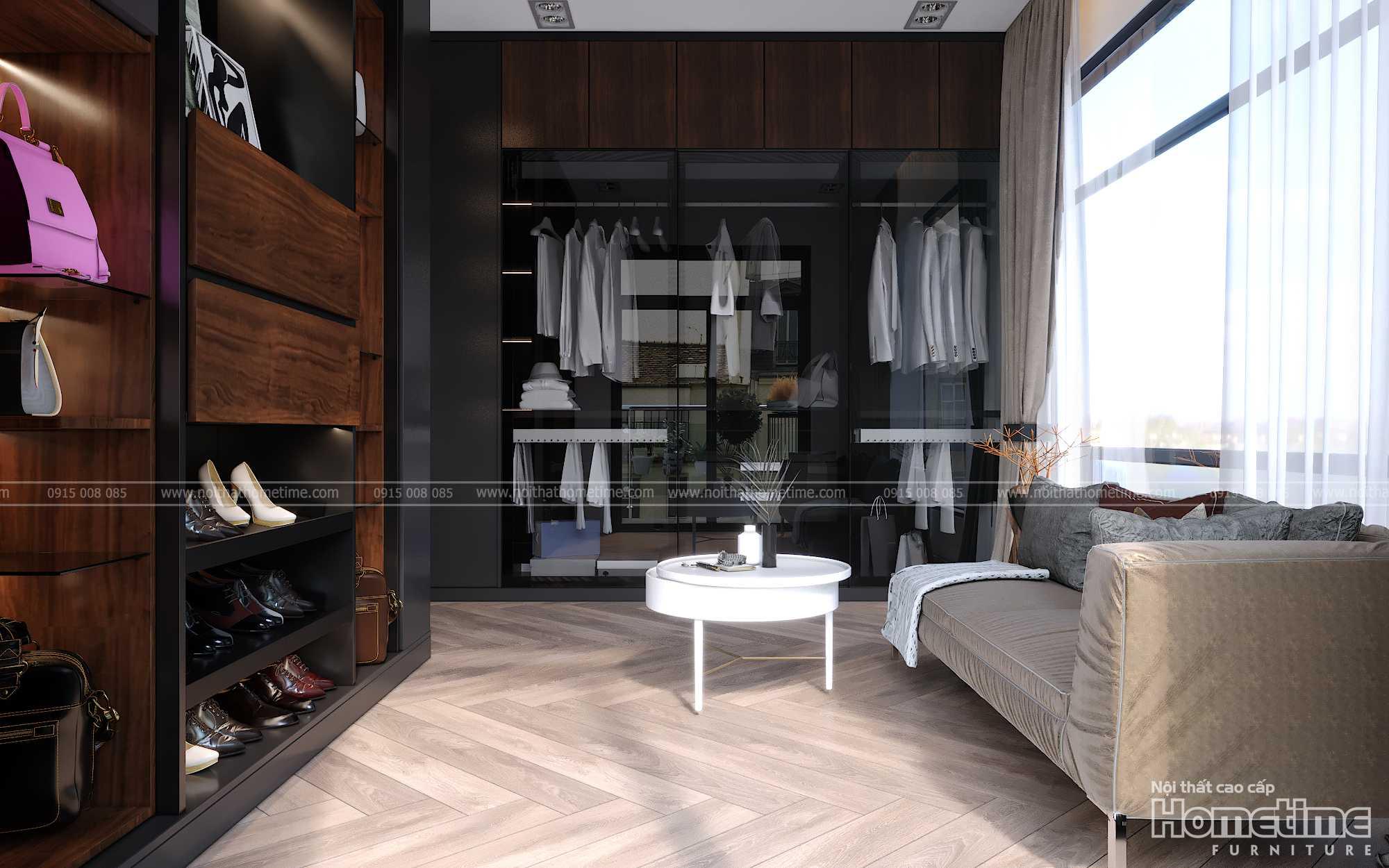 Tổng quan không gian thay đồ phòng ngủ hiện đại