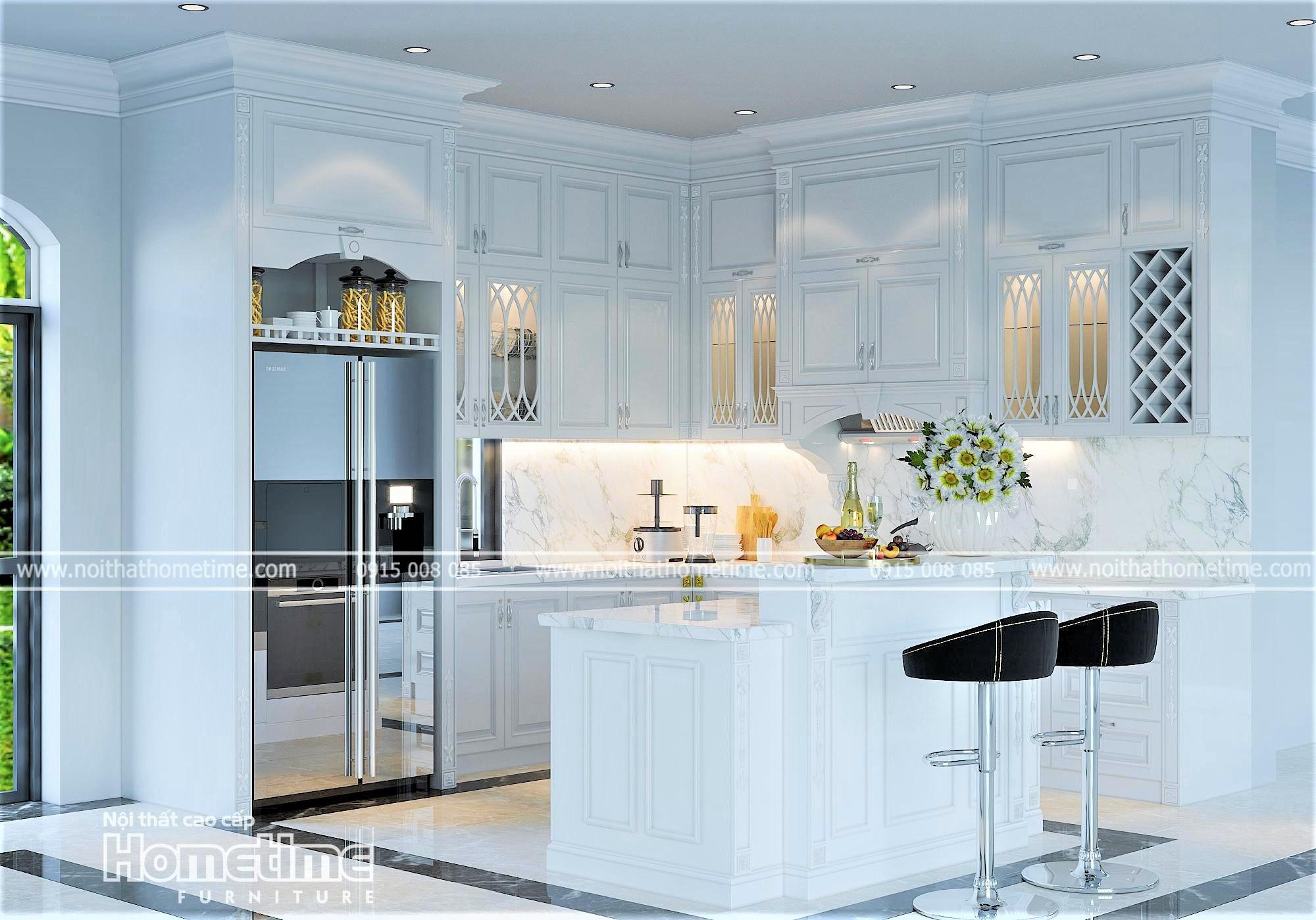 Hình ảng tủ bếp tân cổ điển đẹp sang trọng