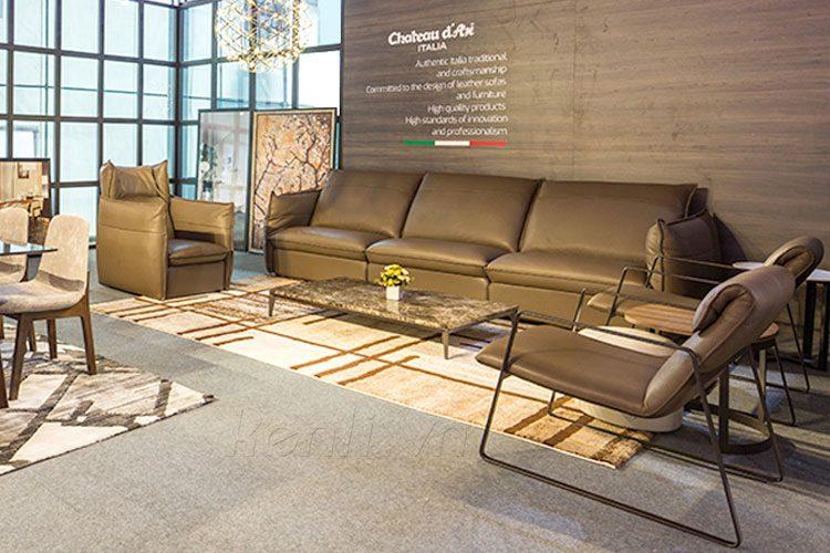 Ghế sofa da Chateau D'Ax cao cấp Hải Phòng